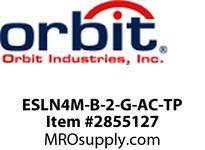 Orbit ESLN4M-B-2-G-AC-TP MICRO LED WET LCTN EXIT SIGN BLK HSG2FGN LTRSAC TAMP