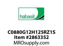 "Habasit C0880G12H125RZ1S 880-12T X 1-1/4"" Split Sprocket with Keyway and Setscrew"