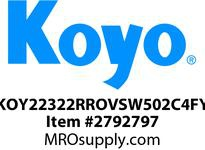 Koyo Bearing 22322RROVSW502C4FY SHAKER SCREEN BEARING
