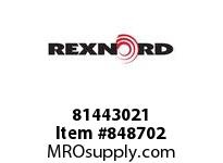 REXNORD 81443021 PS8505-9 TAB CNTR-T4P PS8505 9 INCH WIDE MATTOP CHAIN WIT