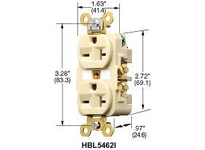 HBL-WDK HBL5462GY DUP RCPT HD IND GRD 20A 250V6-20RGY