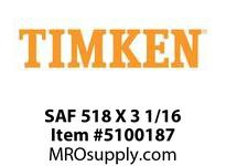 TIMKEN SAF 518 X 3 1/16 SRB Pillow Block Housing Only
