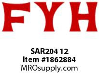 FYH SAR204 12 RUBBER MOUNTED PRESSED STEEL SETSCREW LOCKING