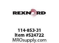 REXNORD 114-853-31 KU5996-9T 75MM SQ NYLON 142794