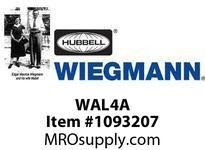 WIEGMANN WAL4A 1 PT.  COMBO KEY/PADLOCKING HANDLE