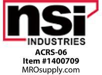 NSI ACRS-06 RANGE TAKING COMPRESSION SPLICE SIDE A: 1/0 STR SIDE B 8 STR OR 6 SOL