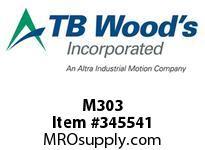 TBWOODS M303 BORE PLUG 550-030-X DORMAN