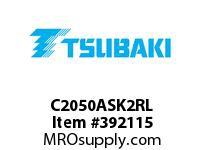 US Tsubaki C2050ASK2RL C2050AS K-2 ROLLER LINK