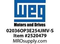 WEG 02036OP3E254JMV-S 20HP 3600 3 60 208-230/460 Close C.-ODP