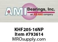 AMI KHF205-16NP 1 NARR ECCENTRIC COLLAR NICKEL 4-BO ROW BALL BEARING