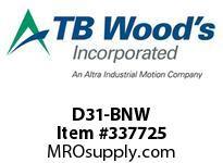 TBWOODS D31-BNW HARDWARE KIT SGL