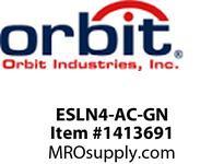 Orbit ESLN4-AC-GN WET LOC. LED EXIT SIGN A/C ONLY - GREEN