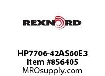 REXNORD HP7706-42AS60E3 HP7706-42 3AS-T60P HP7706 42 INCH WIDE MATTOP CHAIN WI