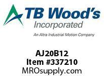 TBWOODS AJ20B12 HUB AJ20-B C D .500 DIA 1/8KW