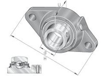 INA RCJT7/8 Two-bolt flanged unit