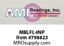 AMI MBLFL4NP 20MM STAINLESS NAR SET SCREW NICKEL ROW BALL BEARING