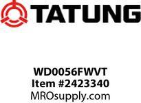 Tatung WD0056FWVT 5 HP 1200 RPM 215T FRAME Design D Torque 6.9 F/L AMPS 85 NOM TEFC Foot Mounded F2 Conduit Baox 6