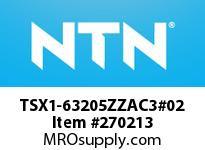 NTN TSX1-63205ZZAC3#02 SMALL SIZE BALL BRG(STANDARD)