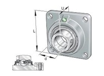 INA RCJ100 Four-bolt flanged unit