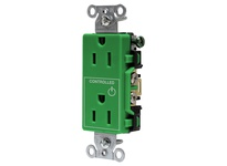 HBL_WDK DR15C1GN 1/2 CONTROLLED 15A 125V B/S DECO GN