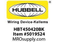 HBL_WDK HBT450420BK WBPREFORM RADI 45 4^Hx20^W BLACK