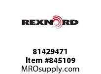 REXNORD 81429471 AS8505-3.25 MTW BLKPLG SP AS8505 3.25 INCH WIDE MOLDED-TO-WID