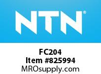 NTN FC204 Bearing Units - Cast Housing