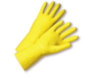 West Chester 2312/7 18 mil Flock Lined Yellow Latex Individually Packaged - Premium Posi Grip