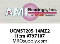 AMI UCMST205-14MZ2 7/8 ZINC WIDE SET SCREW STAINLESS W TAKE-UP SINGLE ROW BALL BEARING