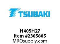 US Tsubaki H40SH27 HT Cross Reference H40SH27 QD SPROCKET HT