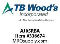 TBWOODS AJ05RBA AJ05A STD SOLID FF COUP HUB