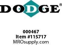 DODGE 000467 17CKCP X 2-7/8^ FLUID CPLG-3535