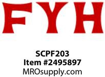 FYH SCPF203 17MM LD SS * PRESSED STEEL UNIT 3 BOLT