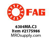 FAG 6304MA.C3 RADIAL DEEP GROOVE BALL BEARINGS