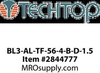 TECHTOP BL3-AL-TF-56-4-B-D-1.5 1.5 HP, 1800 RPM, 208/230/460 Volts, TEFC, 56