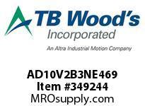 TBWOODS AD10V2B3NE469 VOLK AD2 10HP 230V N12 E469