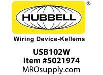 HBL_WDK USB102W USB CHRGR SP3W 2.1A 5V TWO PORTWHITE