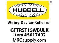 HBL_WDK GFTRST15WBULK 15A COM SELF TEST TR GFR WHITE BULK
