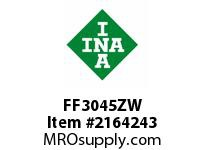 INA FF3045ZW Flat needle cage assembly