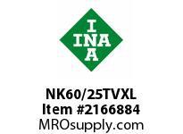 INA NK60/25TVXL Precision needle bearing