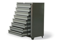 StrongHold DC-15413 Eight Drawer Shelving Unit with Lock Bar 42x26x60