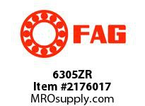 FAG 6305ZR RADIAL DEEP GROOVE BALL BEARINGS