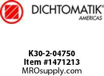 Dichtomatik K30-2-04750 PISTON SEAL PTFE SQUARE CAP PISTON SEAL WITH NBR 70 DURO O-RING INCH
