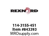 REXNORD 114-3155-451 ATCH KHT8500 F1.5 FDA APPROVAL: YES; STANDARD PUSHER