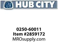 HUB CITY 0250-60011 SSHB2073ER 8.77 56C Helical-Bevel Drive