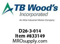TBWOODS D26-3-014 HUB D26 2.623/2.622KL GA 1045