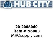 HUBCITY 20-2008060 89H 10.49/1 S A2-CL 1.250 PARALLEL SHAFT DRIVE
