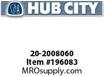 HUBCITY 20-2008060 89H 10.49/1 S A2-CL 1.250 PARALLEL SHAFT DRIVE