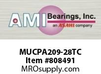 AMI MUCPA209-28TC 1-3/4 STAINLESS SET SCREW TEFLON TA BLK SINGLE ROW BALL BEARING