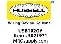 HBL_WDK USB102GY USB CHRGR SP3W 2.1A 5V TWO PORTGRAY